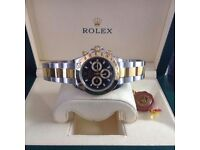Brand New Twotone Rolex Daytona Blackface, Comes Rolex bagged, Boxed with paperwork