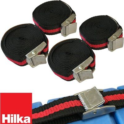 (PACK OF 4) 3M x 25mm Luggage Baggage Cam Buckle Tie Down Straps Pull Tight