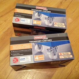 8 Casters pack of 4 New in box.