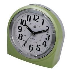 Quiet Sweep Second Hand Beep Alarm Clock with Snooze Portable for Travel-Green