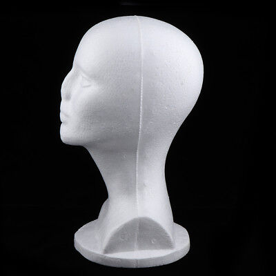 12 Premium Female Styrofoam Mannequin Head Model Wig Hat Glasses Display