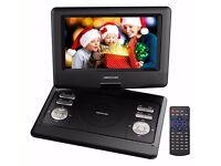 Portable DVD, USB and Games Console, 4 Hour Rechargeable Battery, Swivel Screen, Supports SD Card