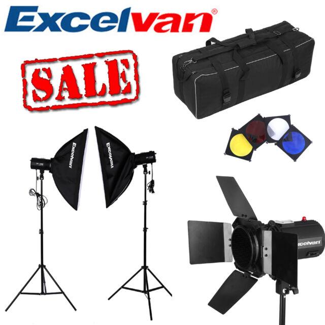 Photography Set Strobe Studio Photo Flash Light Kit Softbox+Triggers+Light Stand