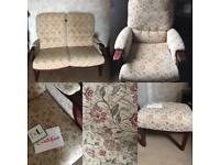 Cottage Suite (2 Seater Sofa, 2 Armchairs & Stool)