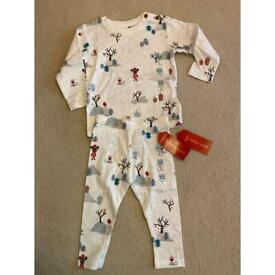 M&S Christmas PJs NEW size 9-12 months