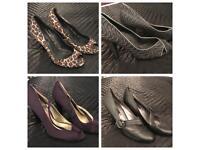 4 pairs of Ladies heeled shoes