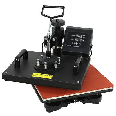 Used 6 In 1 Digital Transfer Sublimation Heat Press Machine For T-shirt Mug Hat
