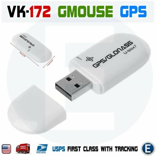 VK-172 GMOUSE USB GPS Receiver Glonass Support Windows 10/8/7/Vista/XP