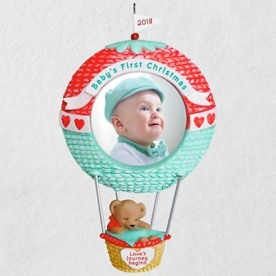 (Hallmark 2018 ~ Baby's First Christmas Love's Journey Begins Photo Ornament)