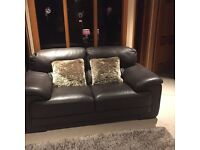 2 seater Italian leather sofa
