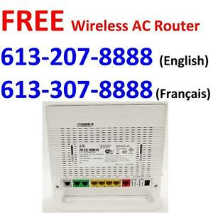 FREE Wireless AC1600 VDSL Modem + FREE Dry loop + FREE Shipping , Unlimited internet for $39.99/month, Call 613-207-8888
