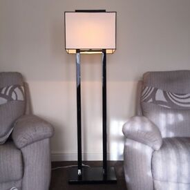 NEW IN BOX! RV Astley VENICE Floor Lamp black white monochrome with shade large NL