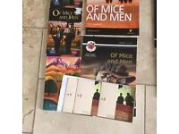 Of mice and men audio cds and all study books, perfect revision package