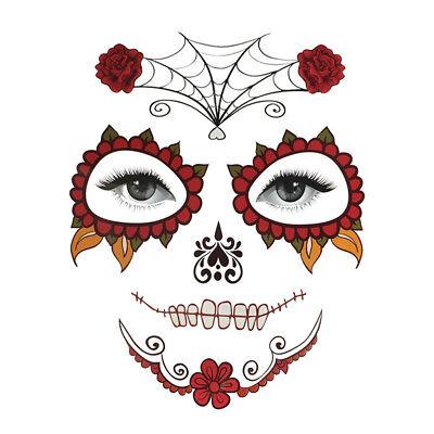 Tag der Toten Sugar Skull temporäre Gesicht Tattoo Kostüm Halloween