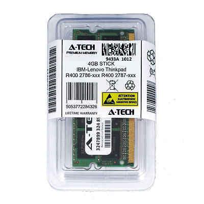 4GB SODIMM IBM-Lenovo Thinkpad R400 2786-xxx 2787-xxx PC3-8500 Ram Memory