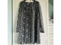 Ladies top dress size 14 snakeskin print new