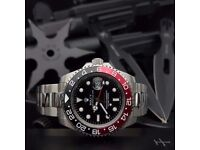 New black dial silver oyster bracelet Rolex GMT Master II 40MM