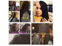 Afro Mobile Hairdressers- Based Near New Cross- Weaves fr £10, braids fr £30 custom lace wig £45