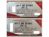 LEAS THAN FACE VALUE Beyonce & Jay-Z OTR Tickets, Cardiff - Principality Stadium