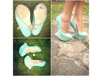 Wedge Heels - Terquise - Size 3- New Primark -RRP £16 - sfs £10