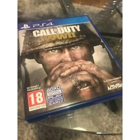 Call of Duty WW2 WWII PS4 PlayStation game in box