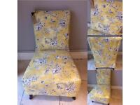 Pretty Linen Toile Easy Chair