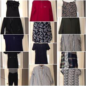 Size 10/12 women's clothing bundle.