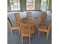 Skovby Dining Room Table + 6 chairs