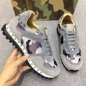 Valentino rockstud runners (Grey camouflage)