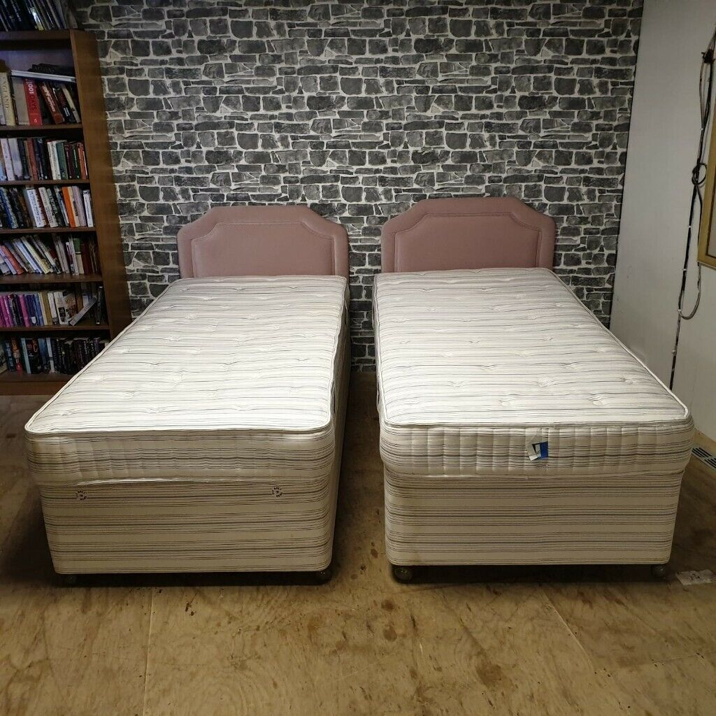 Picture of: 2x Single Divan Beds With Mattresses In Anniesland Glasgow Gumtree