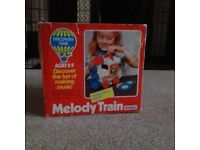 Vintage 1970's Discovery Time Toy - Melody Train With 4 Records