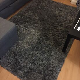 IKEA Gaser Rug, Dark grey (1year old)