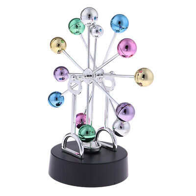 Newtons Cradle Balance Ball Perpetual Science Toy Metal Desk Office Decor B