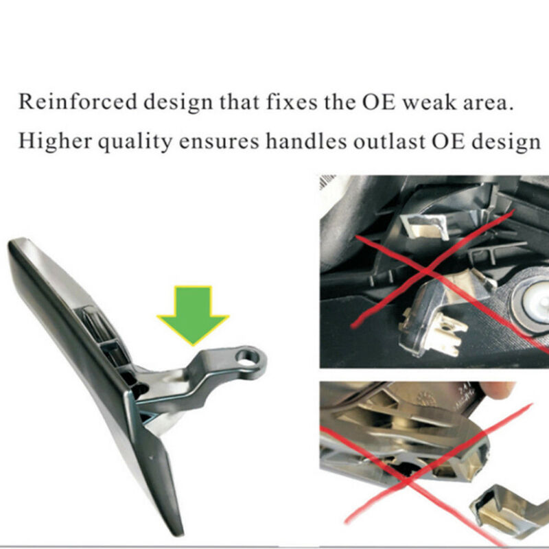 ::Inside Interior Door Handle Repair Kit For Mercedes Silver For Left Driver Side