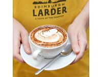 Experienced supervisor with a love of local food needed for Edinburgh Larder Cafe