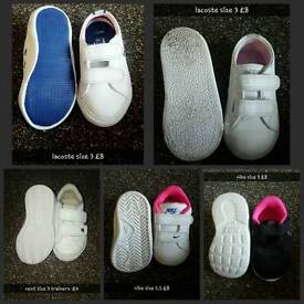 size 3 girls shoes/trainers/boots hairbands