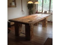 Dining room table. Stunning hand crafted dining room table