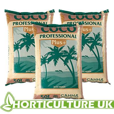Canna Coco Professional Plus 50 Litres Coco Medium Soil Media Coir ** 3 BAGS **
