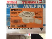 McAlpine trapped shower gulley for tiled floors