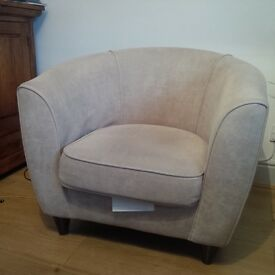 Good Quality Fabric Mary Tub Chair - Taupe