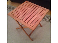 Wooden Folding Side Table