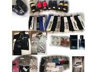 bundle of mens clothes & ladies sliders