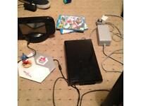 Wii U with mariokart 8 and Disney infinity