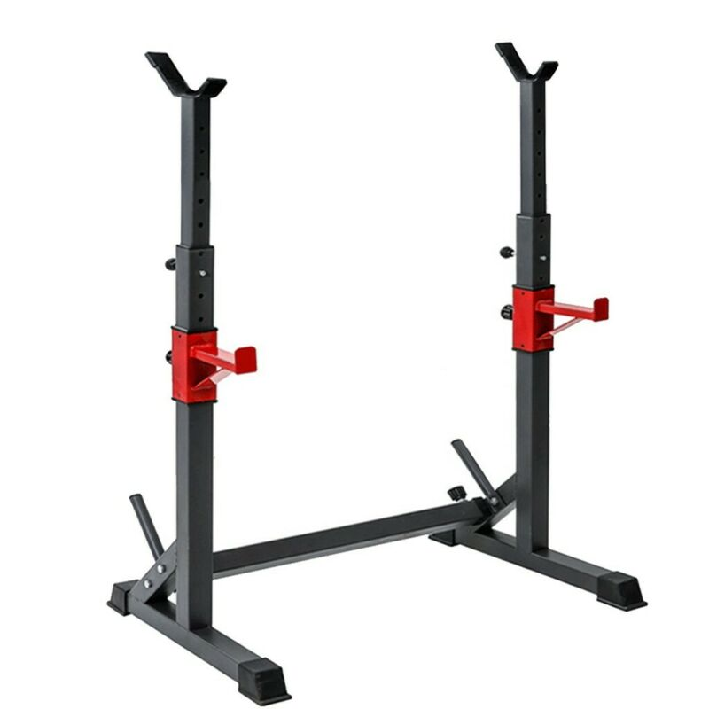 Fully Adjustable RACK Stands Crossfit Weight Training Bench Press