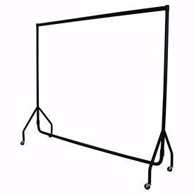 6ft black clothes rail