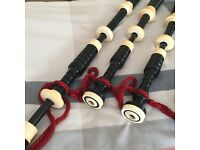 Vintage Bagpipes Full Ivory