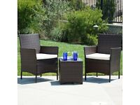 RATTAN WICKER GARDEN SET 3 PIECE