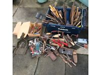 LARGE SELECTION OF HAND TOOLS ....HAMMERS, CHISELS, SCREWDRIVERS, SPANNERS + MORE