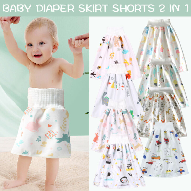 как выглядит Baby Comfy Childrens Diaper Skirt Shorts Waterproof and Absorbent Shorts Pants фото