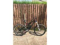 Carbon frame full suspension specialized mountain bike